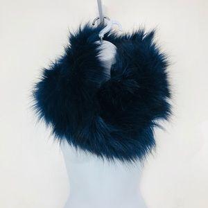 Merona Faux Fur Infiniti Scarf Dark Blue